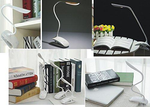 Gritech senza fili portatile e ricaricabile a clip lampada da