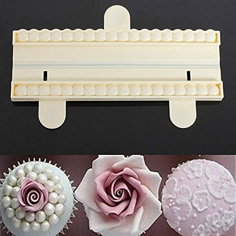 Paleo Perla de corte del grano molde de pastel fondant decoración