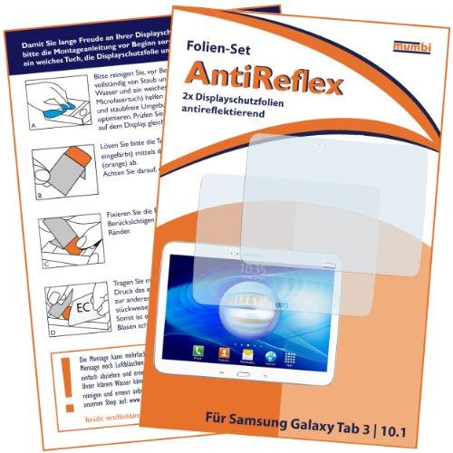2x mumbi Displayschutzfolie für Samsung Galaxy Tab 3 (10,1 Zoll) Schutzfolie AntiReflex matt