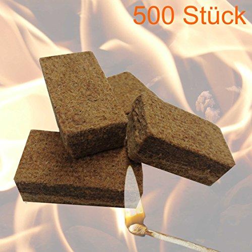 500 Stck Anznder Grillanznder Kaminanznder Feueranznder Anzndwrfel Fr Brennholz Kamin Und Ofen