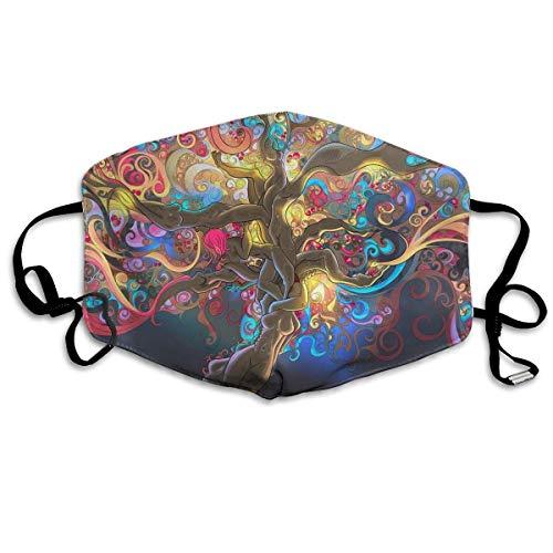 Preisvergleich Produktbild Nicegift Magische Psychedelic Trippy Gesichtsmasken,  atmungsaktiv,  Staubfilter,  Masken mit elastischer Ohrschlaufe