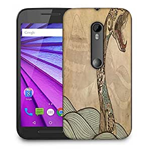 Snoogg Abstract Snake With Big Teeth Designer Protective Back Case Cover For MOTOROLA G3