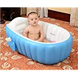Inflatable Bath Tubs European Standard Inflatable Baby Bath Tub with Pump by LUHI (Starting from 6 Months Kids) (Blue)