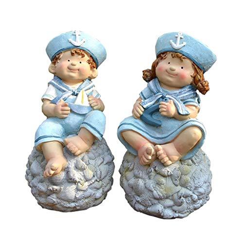 Decorazioni per il giardino Cartelli da Giardino Coppia di sculture di Bambole Giardini dasilo Decorazioni for la Villa