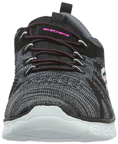 Skechers Ez Flex 3.0Take-The-Lead, Sneaker Basse Donna Nero (Nero (Bkw))