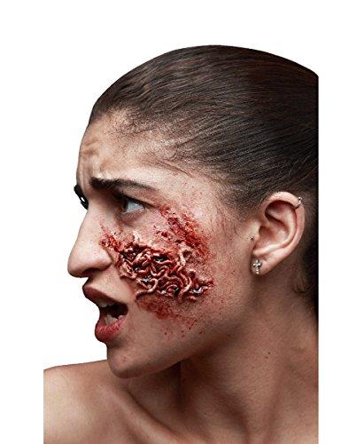Herida falsa invasión de gusanos adulto Halloween