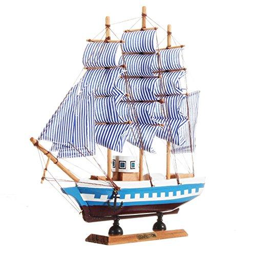 Tutoy 33cm x 6cm x 30cm Hölzernes Schiff Montage Klassische Hölzerne Segelboote Modellmaßstab Modell Schiffs Kits - Typ 1 (Hölzerne Schiffe-kits)