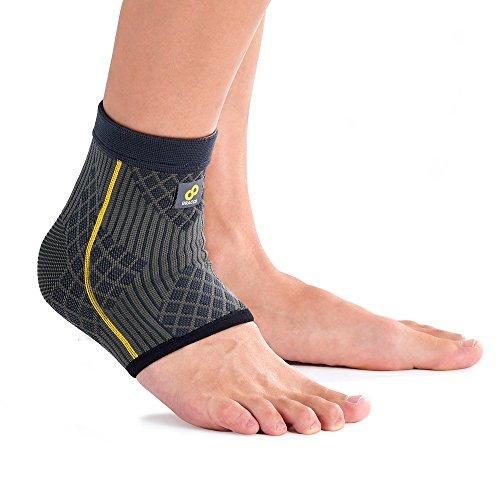 BRACOO elastische Fußbandage – Kompression Knöchelbandage – Knöchelschutz für erhöhte Muskelstabilität beim Sport und im Alltag | FE91 | M