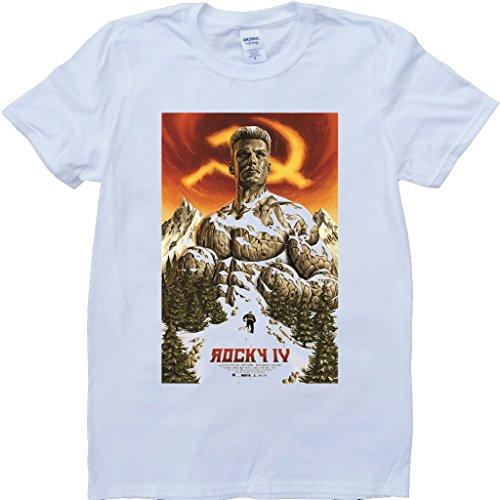 Felsig Rocky Weiß Benutzerdefinierten Gemacht T-Shirt Weiß