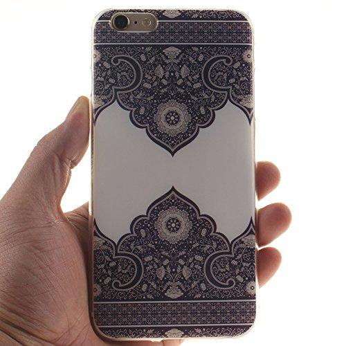 "Apple iphone 6/6s 4.7"" hülle,MCHSHOP Ultra Slim Skin Gel Schlank TPU Case Schutzhülle Silikon Silicone Schutzhülle Case Back Cover für Apple iphone 6/6s 4.7"" - 1 Kostenlose Stylus Pen (Blue Angry Face Blue and White Porcelain"