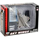 Richmond Toys Motormax Sky Wings EF-2000 Modern Typhoon Eurofighter Aircraft Die-Cast Model Approx 1:100 Scale with Authentic Details