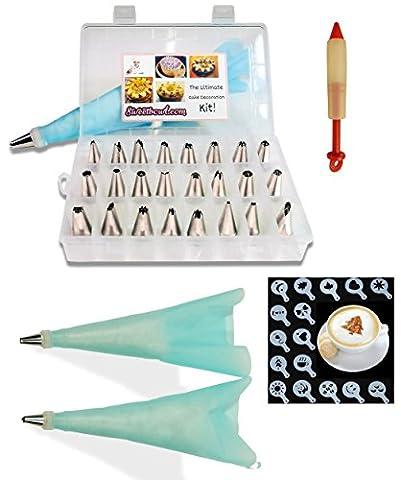 gâteaux passepoil kit pour glaçage par Sweetbowl–Ensemble de douilles 24pièces