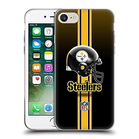 Offizielle NFL Helm Pittsburgh Steelers Logo Soft Gel Hülle für Apple iPhone 7 / iPhone 8