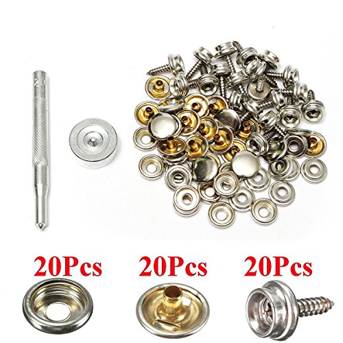 Honesty 30pcs Stainless Steel Boat Cover Canvas Fastener Fast Snap Stud Cap Socket Kit Buy Now Automobiles & Motorcycles Boat Parts & Accessories