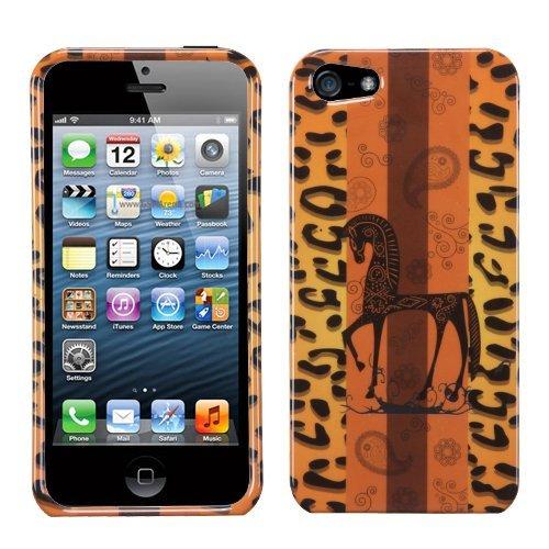 MYBAT Schutzhülle für iPhone 5, schlankes Design, 1 Stück, Leopard Zebra Sunset -