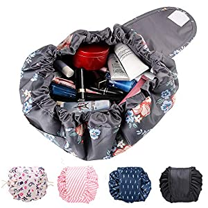 Quick Makeup Bag, Lazy Drawstring Make Up Bag Portable Travel Magic Cosmetic Bag Makeup Pouch Storage Organiser For Women Girls, Large Capacity
