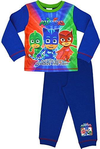 n Schlafanzug Jungen Pyjama-Set Alter 18 Monate bis 5 Jahre[2-3 Jahre][Blau] (Kinder-weihnachts-pj)