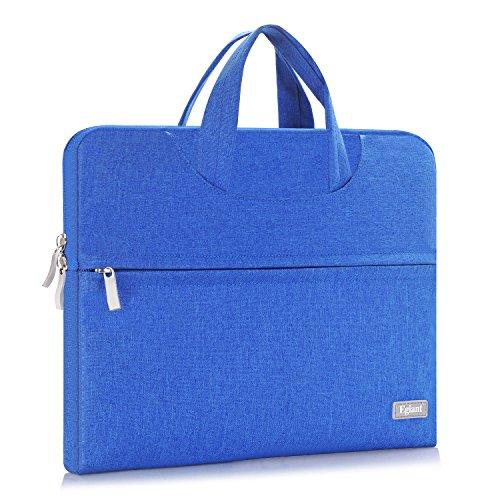 egiant Stoff wasserdicht Messager Aktentasche Tasche mit Griff für Notebook Chromebook, alle Macbook Pro15(schwarz) (Google 13 Chromebook Asus Zoll)
