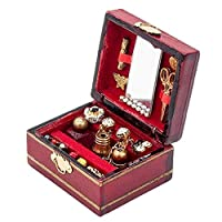 SYN Jewelry Box Dressing Table Mini Luxury Ornament Doll House Gift Furniture Accessories 1/12 Toy Kids Miniatures Decoration Classical