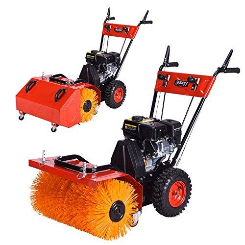 Preisvergleich Produktbild BRAST Benzin Kehrmaschine Motorbesen Kehrbesen Laubsammler 2 in 1 Gerät 4,8kW(6,5PS) 196ccm