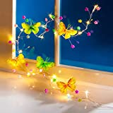 """Lichterkette """"Sommer"""" Sommerbeleuchtung Indoorbeleuchtung Outdoorbeleuchtung Schmetterlingskette Partybeleuchtung Gartenbeleuchtung"""