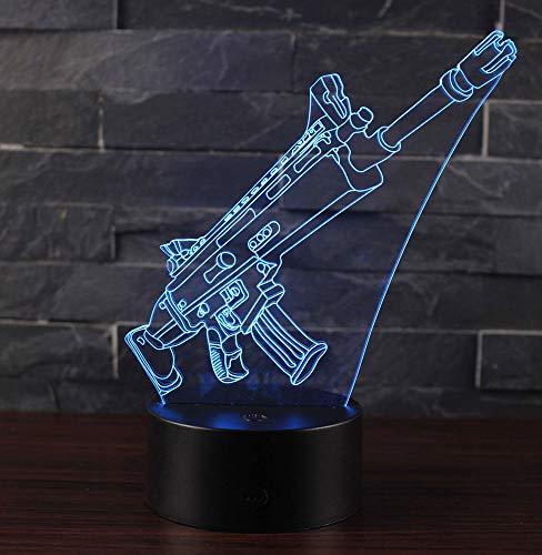 3D Lámpara de Escritorio Win-Y LED 7 del tacto del color de la lámpa