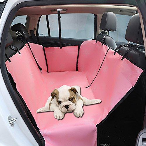 Car Pet Bag Katze Hund Auto Sitzbezug Wasserdichte Auto Haustier Zubehör Sitzkissen Pet Cargo Protector Matte Universal Fit Für Alle Autos, Lkw, SUV (Farbe : Pink)