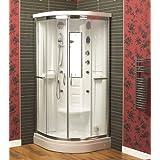 Aqualux Florenta Quadrant Steam Shower Enclosure Cabin 900Mm X 900Mm