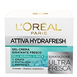 L'Oréal Paris Attiva Hydrafresh Gel-Crema Idratante Fresco per Pelli Normali o Miste - 50 ml