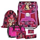 EULE - Owl - Leicht-Schulranzen-Set 6teilig für Mädchen ab 1.Klasse