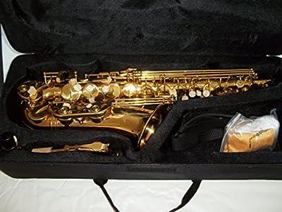 Saxofón Alto en mi bemol/acabado dorado