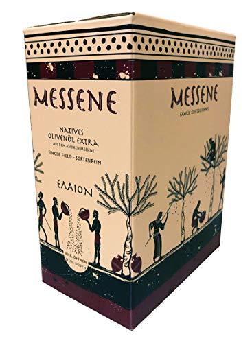 """3 Liter eigenes Natives Olivenöl Extra, handgepflückt, kaltgepresst, sortenrein und """"Single-Field"""" Abfüllung in umweltfreundlicher Verpackung mit Ausgießer"""
