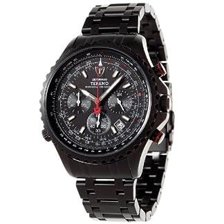 Detomaso DT1029-D – Reloj analógico de Cuarzo para Hombre con Correa de Acero Inoxidable, Color Negro