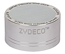 Zydeco Bluetooth Speaker A11 SILVER Colour,Bluetooth Version 2.1,working Range up to 10m,working time 3hours ,output 3w,signal to noise >85db Battery voltage 800mah