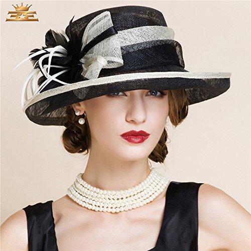 DMXY-Chapeau élégant Beach Hat casquette parti , Hat Black