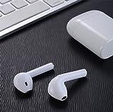 YFQH Bluetooth-Headset [Business-Stil] Wireless-Headset Bluetooth-Ohrhörer-Freisprecheinrichtung Mit Clear Voice Capture-Technologie Bluetooth In-Ear-Headset Für iPhone Samsung Huawei HTC, Etc,White