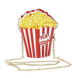 Demiawaking Umhängetaschen für Frauen Schulter Messenger Bags Handtasche (popcorn)