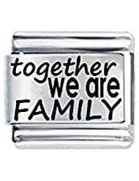 Abalorio con inscripción «Together we are family» compatible con la colección Classic de Nomination