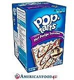 AMERICANFOOD4U - Kellogg's Pop Tarts   HOT FUDGE SUNDAE (Warmer Eisbecher) (Frosted)   8 Törtchen   348 g   Amerikanische Kuchen Süßigkeit als Frühstücksartikel oder als Backware für den Toaster, Backofen   American Sweet, Candy - Original aus den USA