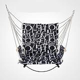 ALK Swing avec support Chaise hamac Ensemble de siège pour intérieur ou extérieur Jardin Yard Gario à suspendre Corde pour enfant Adulte only swing seat