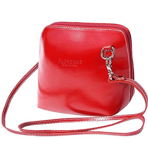 Florence Leather Market, Borsa a tracolla donna Small rosso chiaro