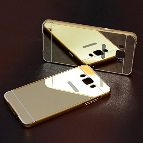 nCase Back Cover Mirror for Samsung Galaxy J7 - 6 (New 2016 Edition) - ( Gold)