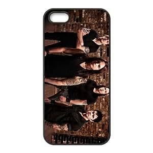 Bullet For My Valentine 008 coque iPhone 5 5S cellulaire cas coque de téléphone cas téléphone cellulaire noir couvercle EOKXLLNCD22586