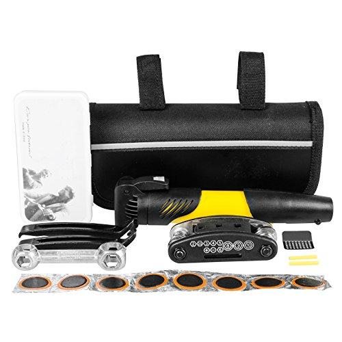 Mini Bike Notfall Repair Tool Kit Set mit Pumpe und Tasche Fahrrad Multi-Tool für Mountainbike Radfahren Rennrad