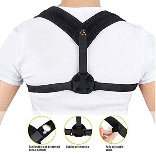 Schulter-Bandage mit Sicherheitsgurt (A1A), verstellbar, Haltungskorrektur für Rücken, um eine krumme Sitzhaltung zu korrigieren und Rückenschmerzen von Frauen und Männern zu verhindern. -