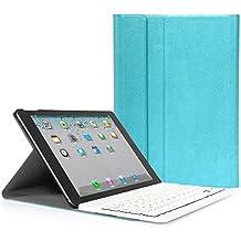 iPad Air 2 CoastaCloud QWERTY Italiano Layout Ultrathin Custodia con Supporto e Tastiera Bluetooth staccabile per Apple ipad Air 2 (A1566 A1567 )Blu