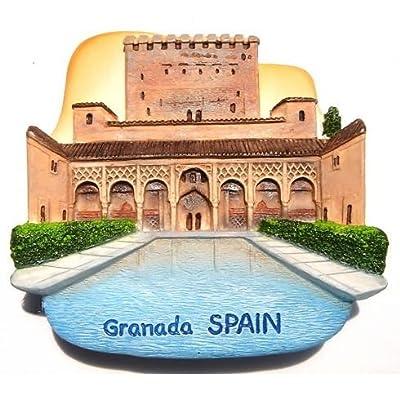 Palacio de Alhambra Granada España citadel Imán Souvenir diseño de hecha a mano tailandesa