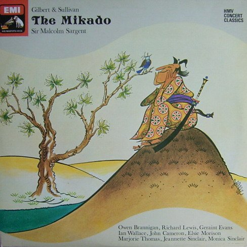 Gilbert & Sullivan: The Mikado (or, The Town of Titipu) [Vinyl Schallplatte] [Doppel-LP] Wallace Master