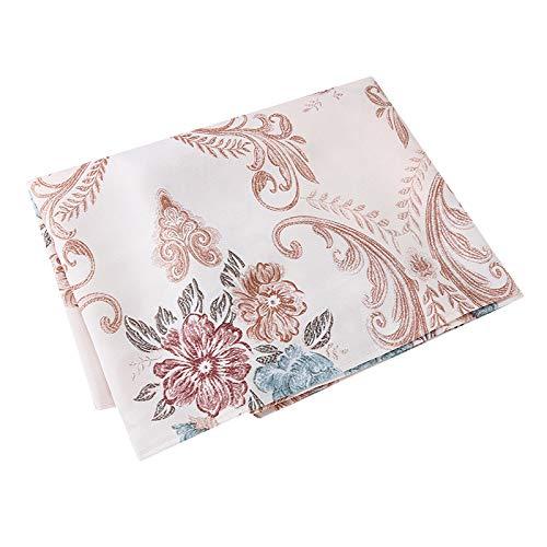 LWANFEI TV-Möbelbezug Flower Lace Tischdeckenbezug Handtuch Tischdeckenüberschuh Cabinet Shoe Cover, Brown - Cabinet Cover