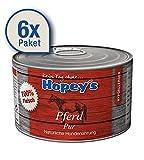 Hopey's Hypoallergenes Hundefutter: Pferdefleisch als einzige Proteinquelle, 100% Pferdefleisch für Hunde, 6X 440g Dosen